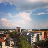 Anblick über Nashville, TN lizenzfreies stockbild