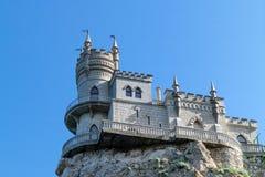 Anblick der Krim, das alte Schloss schluckt Nest - historisches Monument Lizenzfreie Stockfotos