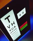 Anblick-Test - Vision - Optiker Lizenzfreie Stockbilder