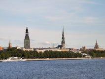 Anblick von altem Riga Stockfotografie