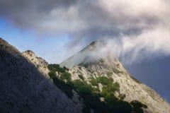 Anboto góra z mgłą Obrazy Stock
