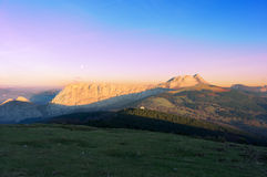 Anboto mountain range at sunset Royalty Free Stock Photography