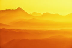 Anboto and mountain silhouettes at sunset Stock Photos