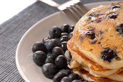 Ancakes With Fresh Blueberries Stock Image