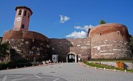 Ancara/Turquia - 27 de maio de 2018: Porta do castelo de Ancara imagens de stock