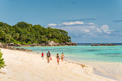 Ance Royale Beach, Mahe Island, Seychellerna Royaltyfri Fotografi