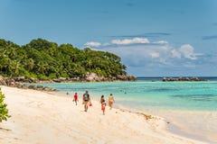 Ance Royale Beach, Mahe Island, Seychelles Fotografia Stock Libera da Diritti