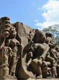 Anceint中央印度的石头艺术 免版税库存照片