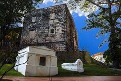 Anceint building St. Paul church landmark. Anceint building St. Paul church history landmark in Malaysia stock photography