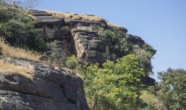 Ancient Udayagiri Caves India Stock Photography