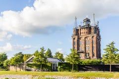 Ancent水塔在多德雷赫特,荷兰 免版税库存图片