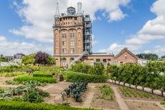 Ancent水塔在多德雷赫特,荷兰 免版税图库摄影
