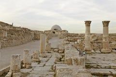 Ancent building on amman citadel Royalty Free Stock Photos