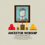 Ancestor Worship. Flat Design Ancestor Worship Vector Illustration vector illustration