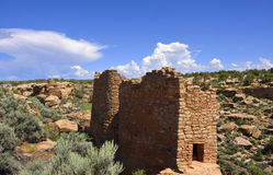 Ancestral Puebloan houses. Ruins of an Ancestral Puebloan settlement, showing rectangular-shaped structure, Hovenweep National Monument, Colorado / Utah Stock Photos