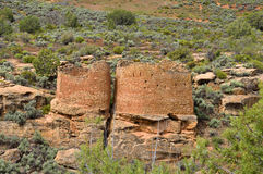 Ancestral Puebloan ruins Stock Photos