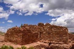 Ancestral Puebloan ruins. Ruins of an Ancestral Puebloan settlement, Lomaki Pueblo, Wupatki National Monument, Arizona Stock Photography