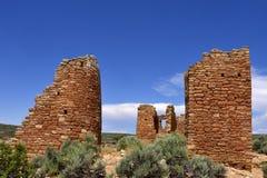 Ancestral Puebloan settlement. Ruins of an Ancestral Puebloan settlement, Hovenweep National Monument, Colorado / Utah Stock Photos
