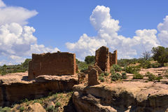 Ancestral Puebloan settlement. Ruins of an Ancestral Puebloan settlement, showing section of complex, Hovenweep National Monument, Colorado / Utah Royalty Free Stock Images