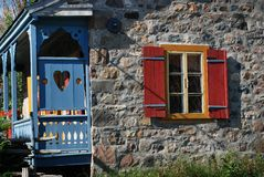 Ancestral Rural Stone House In Quebec Canada Royalty Free Stock Image