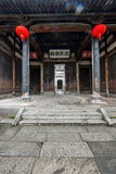 Ancestral Temple of Hongcun, Yixian County, Anhui Province. Hongcun is located in one of the six counties of Huizhou, Yixian County, northeast of the whole Stock Photography