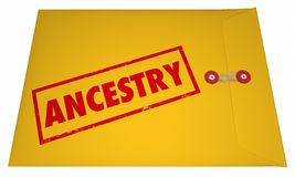 Ancestry Family History Research Documents Envelope Royalty Free Stock Photo