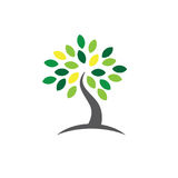 Ancestry or Genealogy Icon with Family Tree. Ancestry / Genealogy Icon w Family Tree Royalty Free Stock Photos