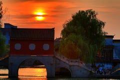 AnChang antyczny miasteczko Jiangnan kochliwi uczucia Obraz Royalty Free