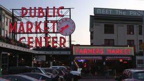 Anche lasso di tempo del mercato di posto di luccio, Seattle, Washington, U.S.A. archivi video