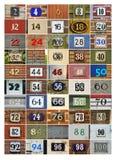 Anche numeri di casa Fotografia Stock