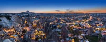 Anche panorama di Goreme, la Turchia, Cappadocia immagini stock libere da diritti