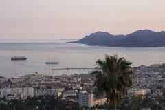 Anche vista superiore di Cannes immagini stock libere da diritti