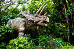 Anchiceratops dinosaur. Model at the park Royalty Free Stock Photos