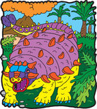 Anchilosauro do dinossauro Fotografia de Stock Royalty Free