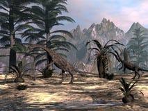 Anchisaurusdinosaurier -3D framför vektor illustrationer
