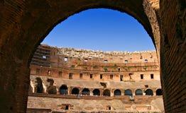 Ancho interno de Roma Colosseum Foto de archivo libre de regalías