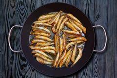 Anchois frits méditerranéens de fritos de Boquerones Photos libres de droits