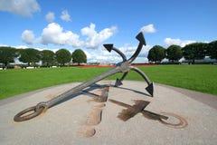 Anchor. Old anchor ass a sculpture in saint-petersburg, russia Stock Photos