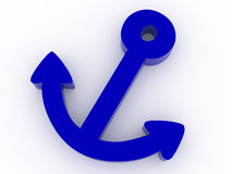 Anchor. 3d render  on white background Stock Image