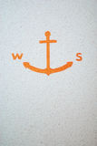 Anchor. Pictured on the wall Royalty Free Stock Photos