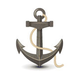 Anchor. Highly detailed old metallic anchor Royalty Free Stock Image