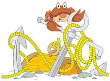 Anchor. Vector clip-art / children's illustration for your design Stock Images