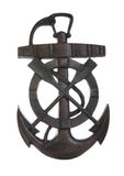 Anchor. An old rusty anchor isolated over white background Royalty Free Stock Images