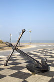 Anchor along the Dunkirk Coastline, France. Old anchor along the Dunkirk Coastline, France Royalty Free Stock Images