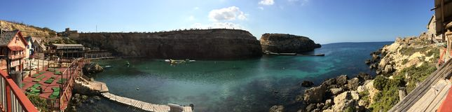Anchor Bay, Malta. Beautiful bay that is Anchor Bay, Malta - as seen in the Popeye movie Stock Photos