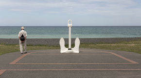 Anchor by the beach in Napier. Stock Image