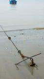 Anchor on the beach Stock Photo