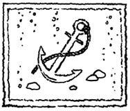 Anchor black grunge drawing Royalty Free Stock Image