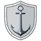 Anchor on board. It can be used to create logos, logo, tattoo. Anchor on board. It can be used to create logos, logo, tattoo, brand name. Vector Image Royalty Free Stock Image
