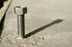 Anchor bolt in concrete Stock Photography
